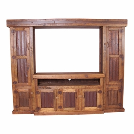 Old West Tin 4 Piece Entertainment Center