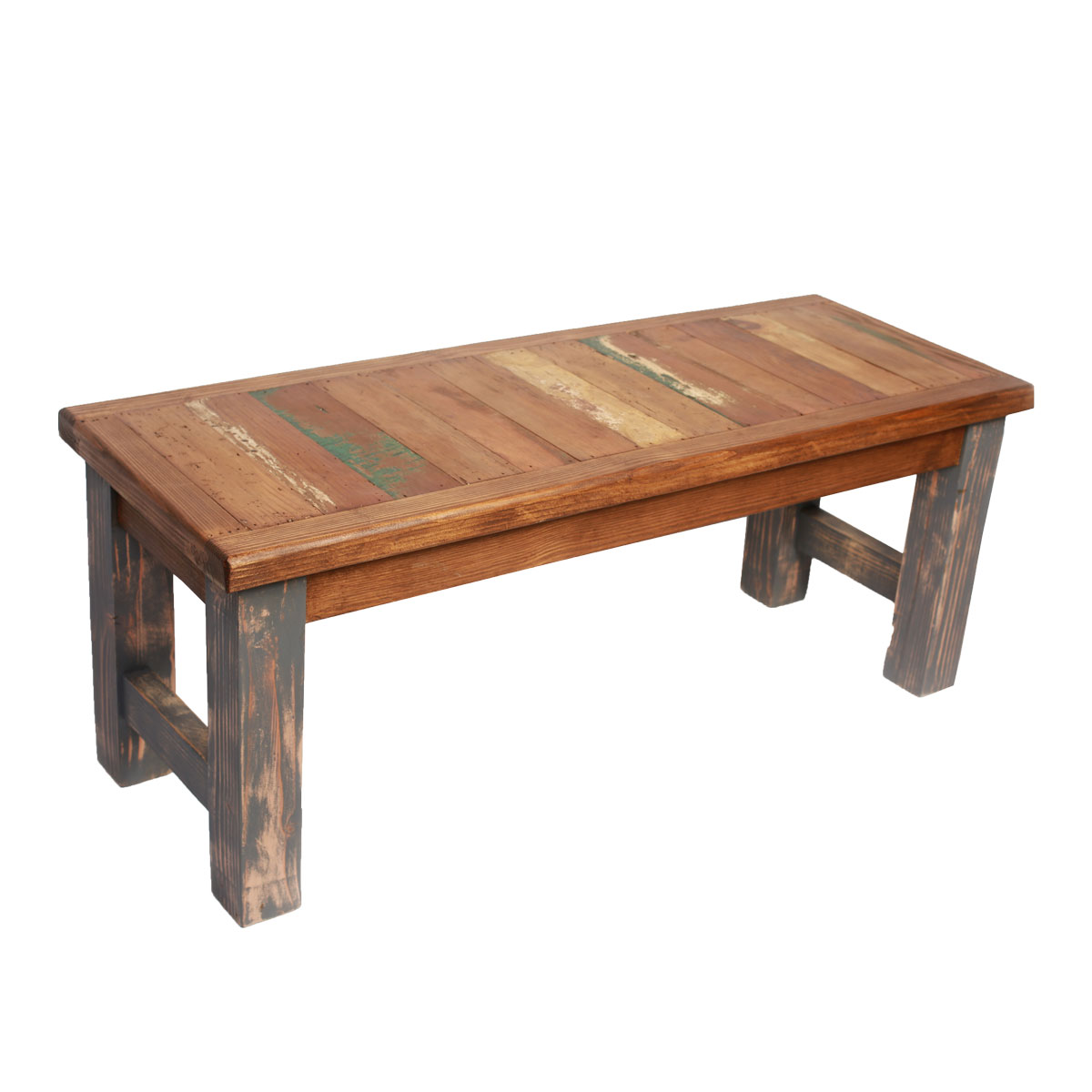 Old Wood Industrial Gray Bench