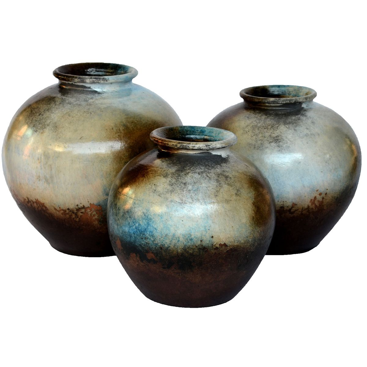 Olla Brown Vases - Set of 3