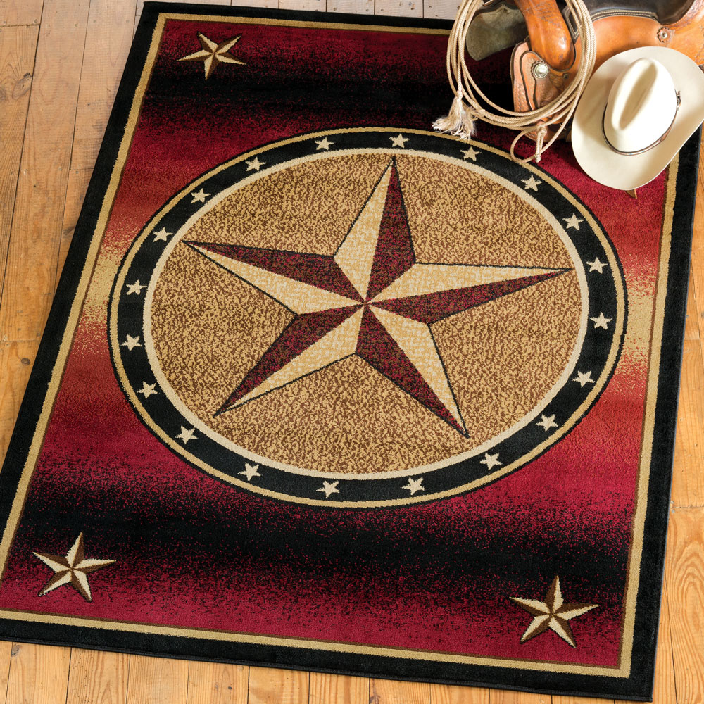 Ombre Star Rug - 5 x 7