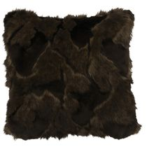 Onyx Marbled Fox Fur Pillow