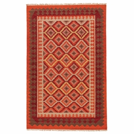 Orange Fire Rug Collection