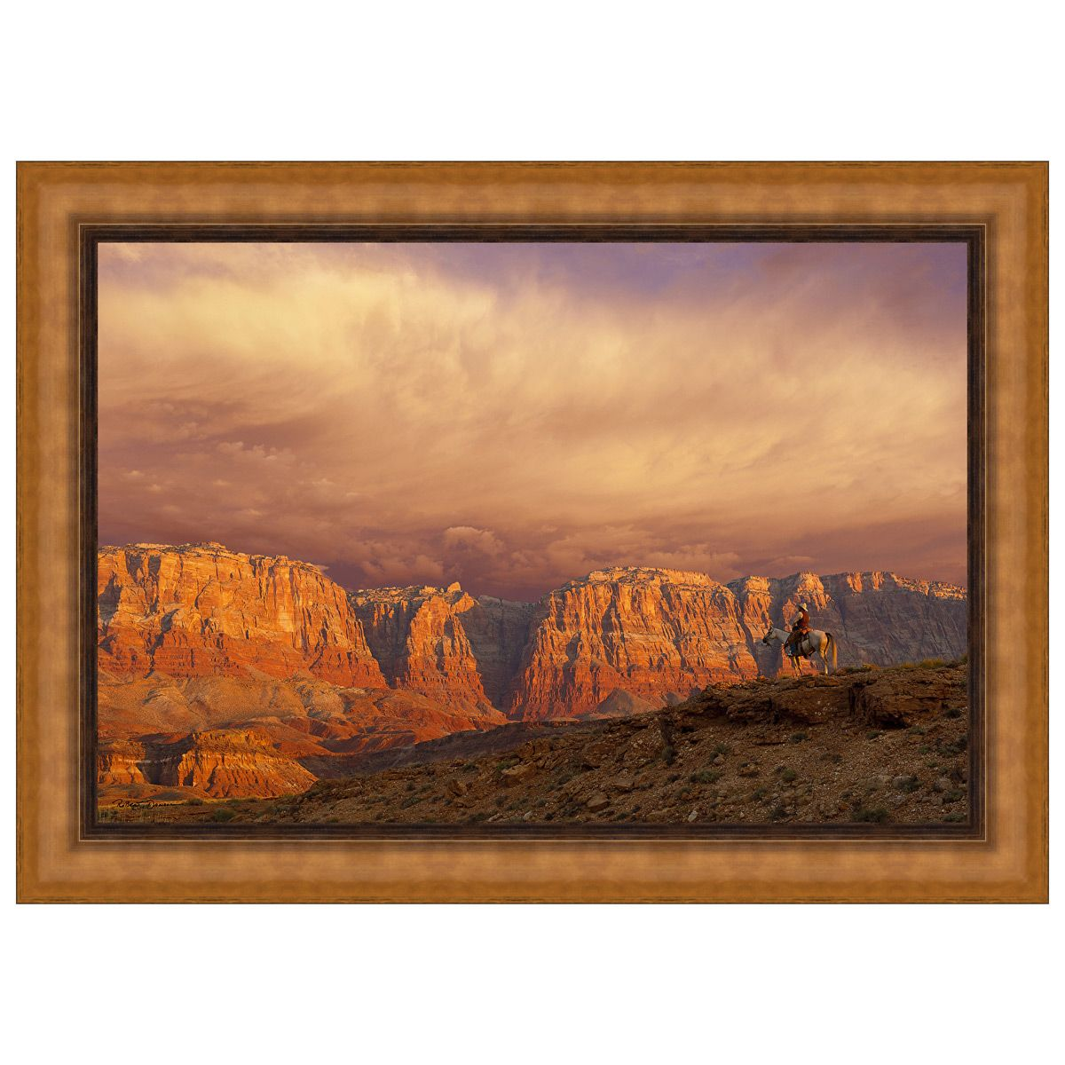 Out of the West Framed Canvas