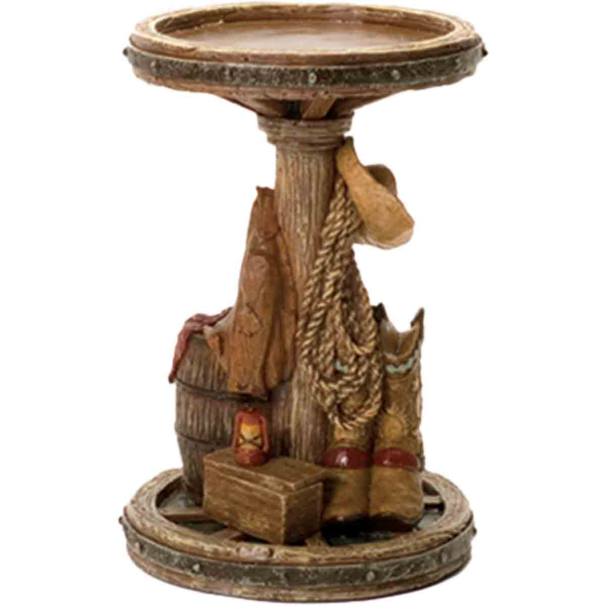 Outlaw Wagon Wheel Candle Holder
