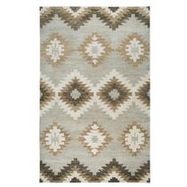 Painted Desert Gray and White Rug - 10 x 14