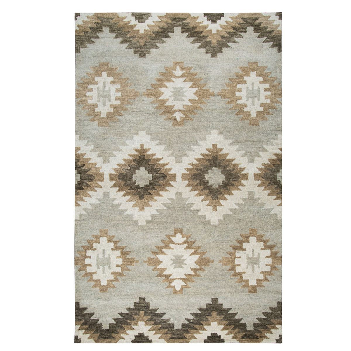 Painted Desert Gray and White Rug - 5 x 8