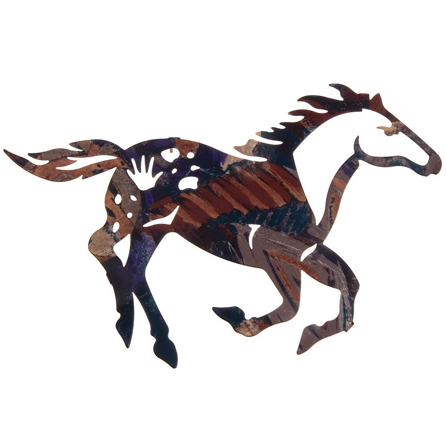 Painted Pony Metal Wall Art