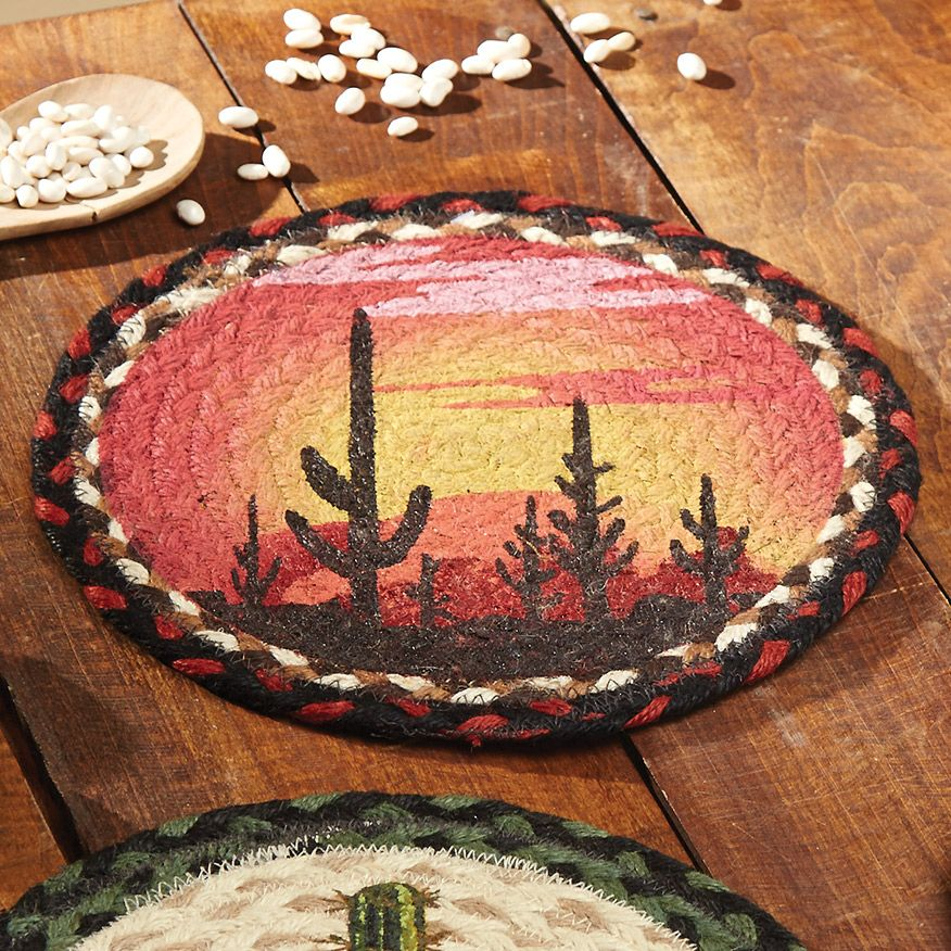 Painted Skies Cactus Jute Trivet