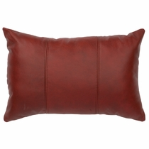 Painted Sky Red Cowhide Pillow