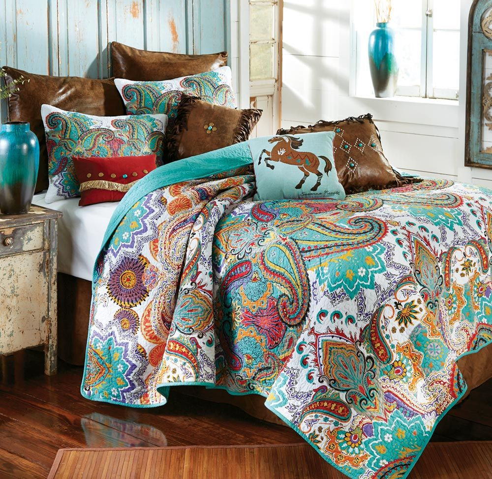 Paisley Brilliance Quilt Set - Twin
