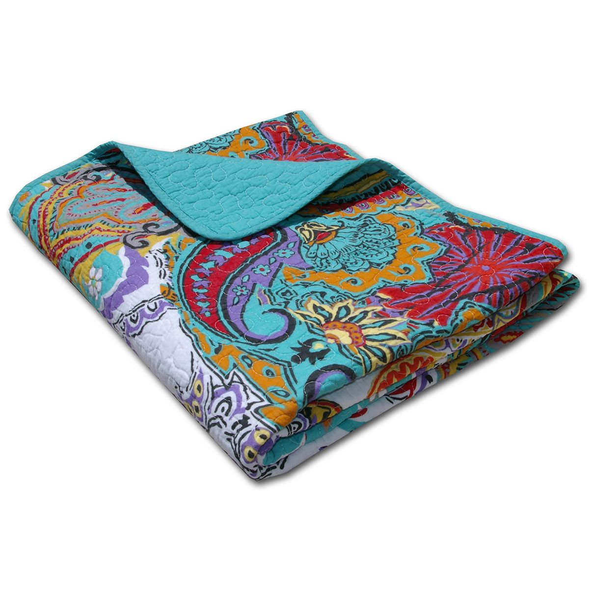 Paisley Brilliance Throw