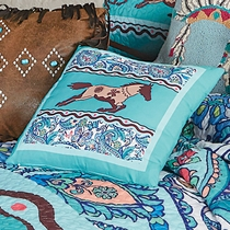 Paisley Horse Accent Pillow - CLEARANCE