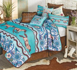 Paisley Horse Quilt Set - Twin - CLEARANCE