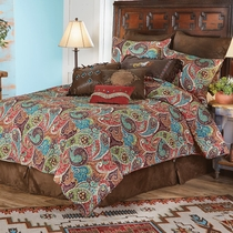 Paisley Jewel Quilt Set - Full/Queen