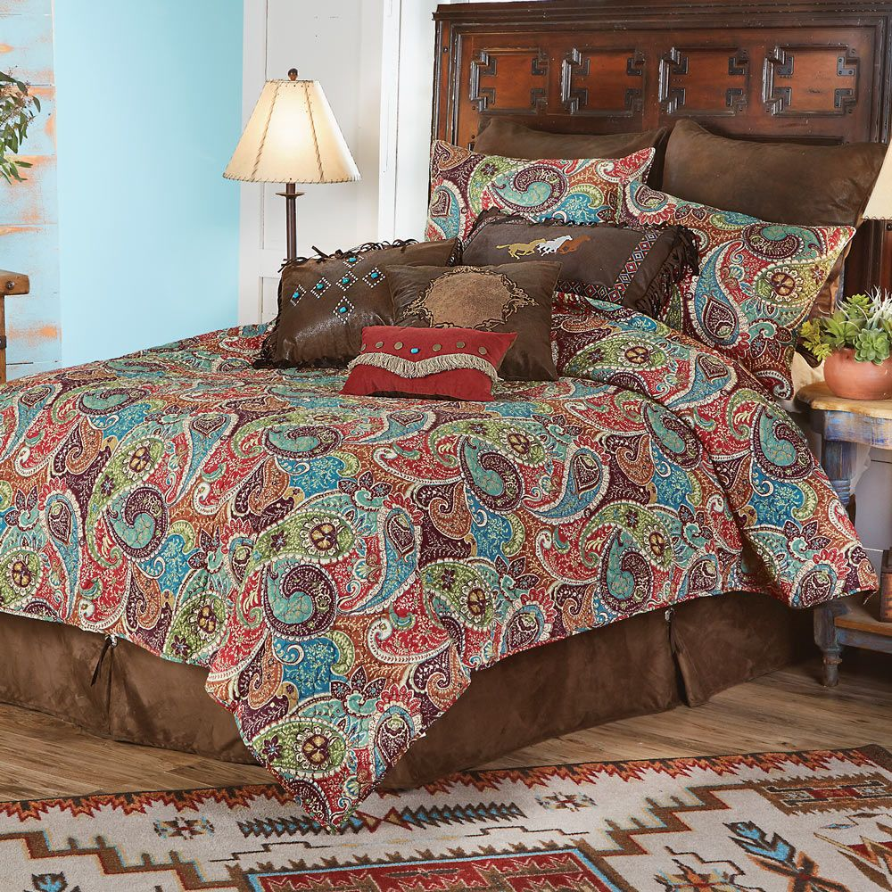 Paisley Jewel Quilt Set - Full/Queen - CLEARANCE