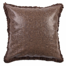 Paisley Scroll Leather Euro Sham
