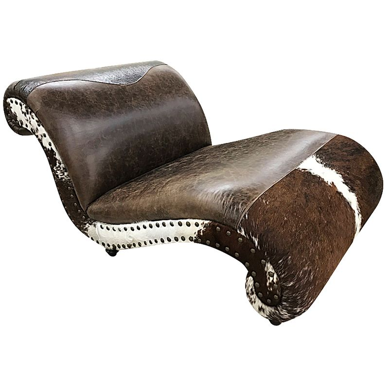 Panhandle Cowhide Double Chaise Lounge