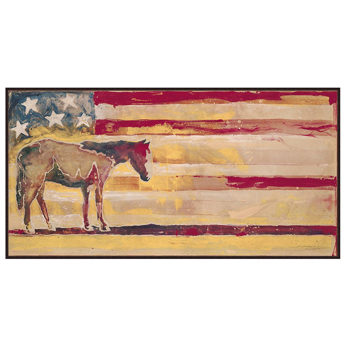 Patriotic Horse Wall Art