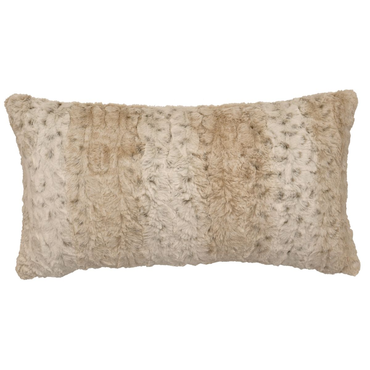 Pearl Leopard Cuddle Fur Rectangle Pillow