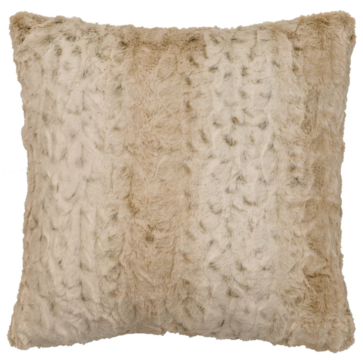 Pearl Leopard Cuddle Fur Square Pillow