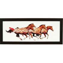 Personalized Free in Spirit Horse Framed Canvas Art