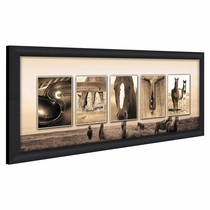 Personalized Western Range Name Framed Canvas Art
