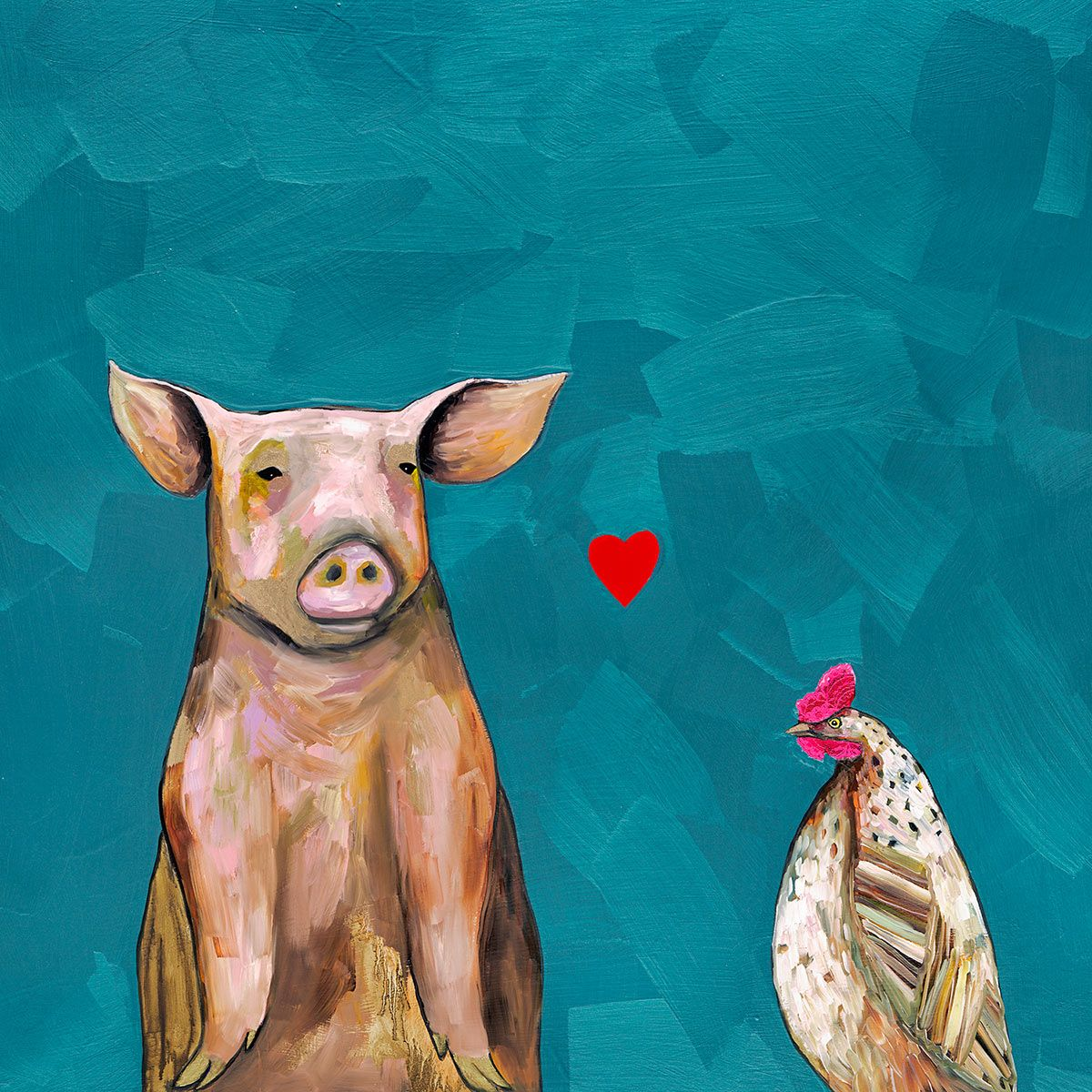 Pig Love Canvas Art
