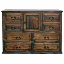 Pine Abode 1 Door Dresser - Natural Dark