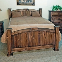 Pine Abode Queen Bed - Natural Dark