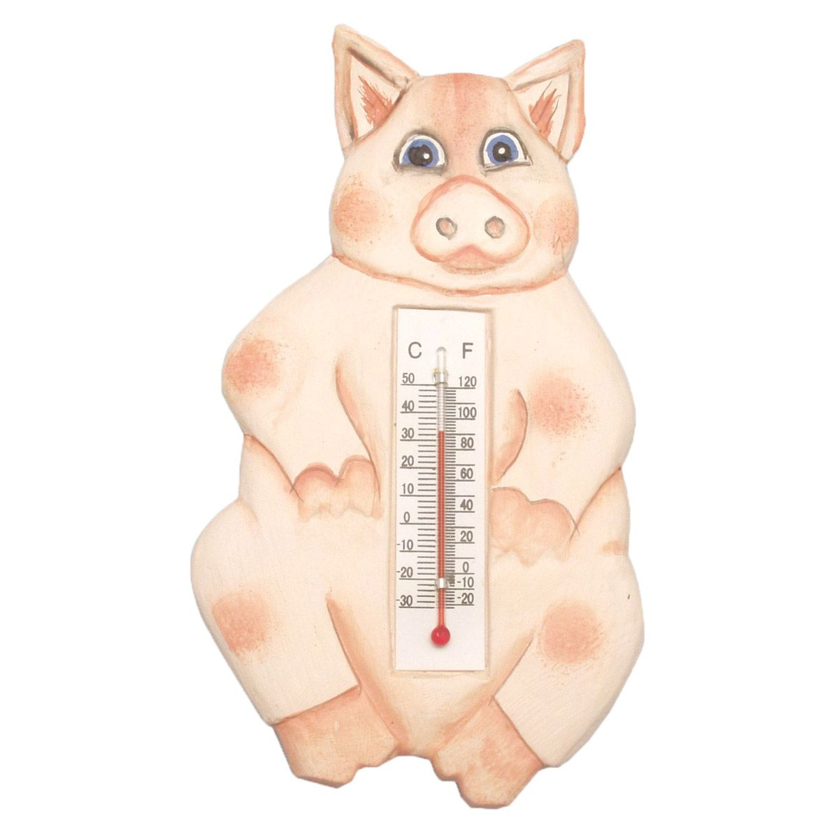 Pink Pig Window Thermometer