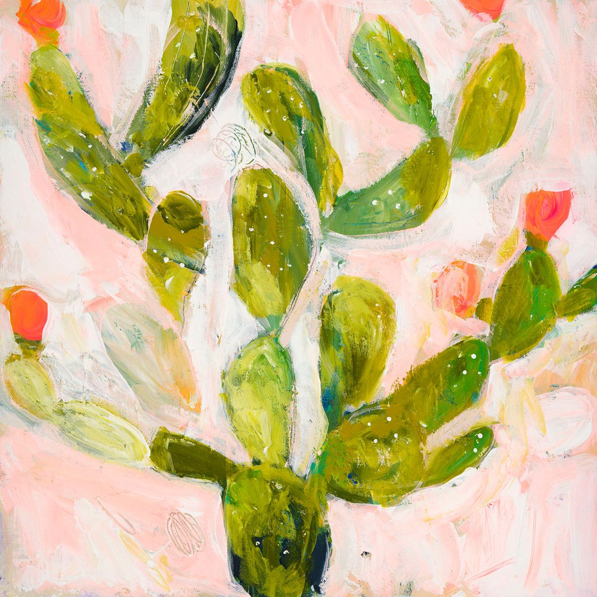 Pink Prickly Pear Canvas Art