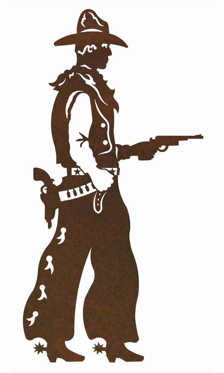 Pistol Cowboy Metal Wall Art