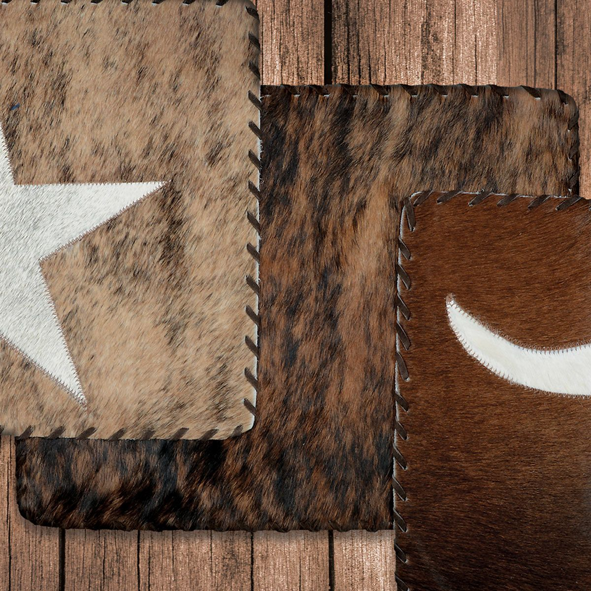 Plain Cowhide Placemat