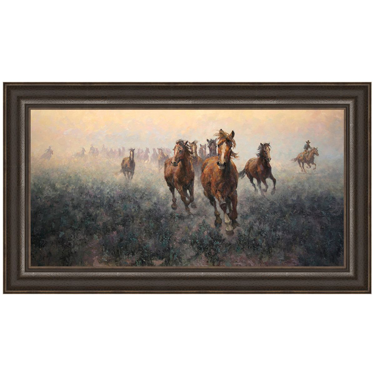 Plains Roundup Canvas Art