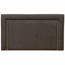 Plateau Saloon Gray Leather Headboard - Full