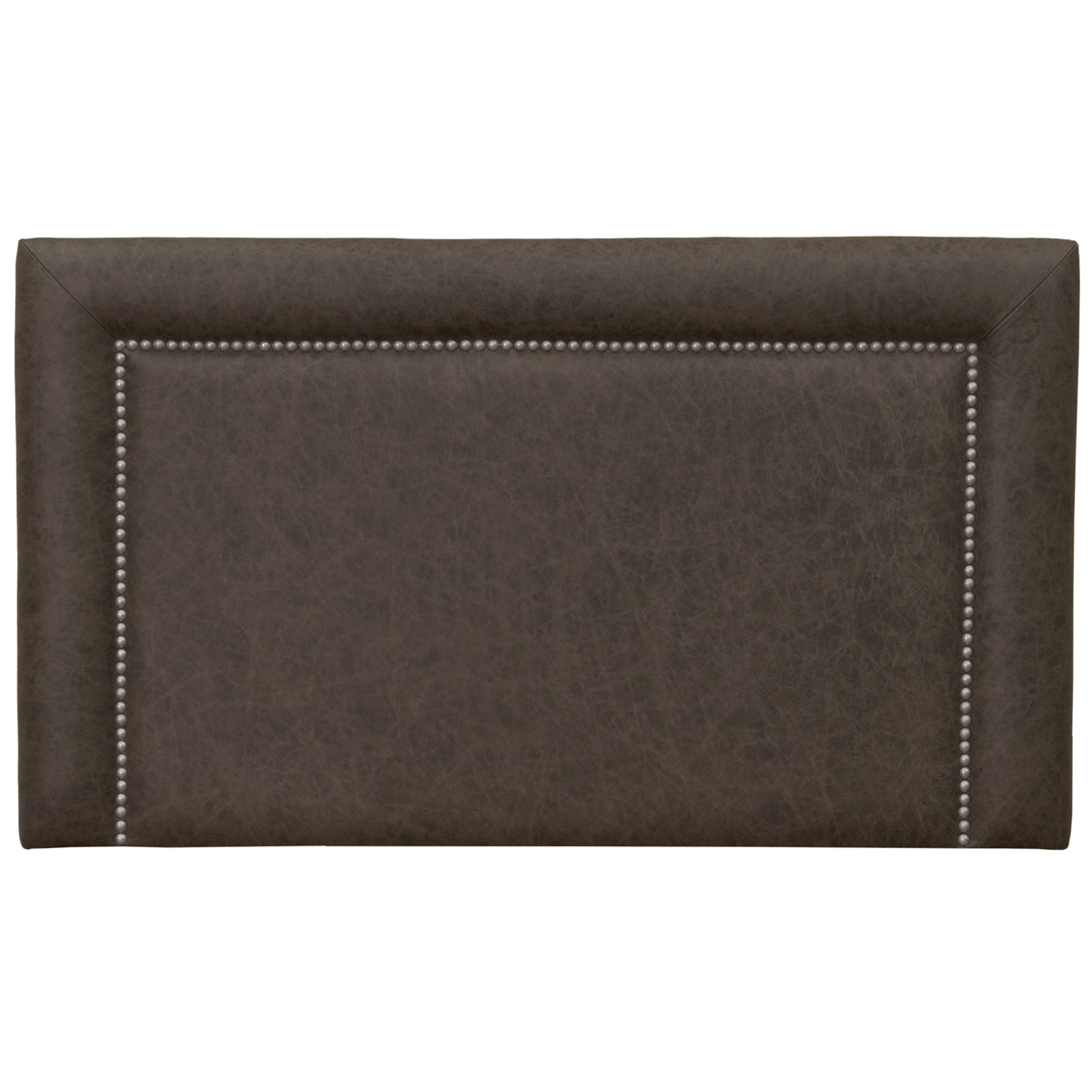 Plateau Saloon Gray Leather Headboard - Queen