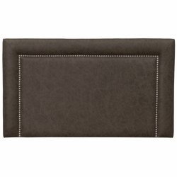 Plateau Saloon Gray Leather Headboards