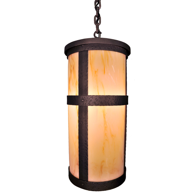 Portland Tall Open Pendant with Lid