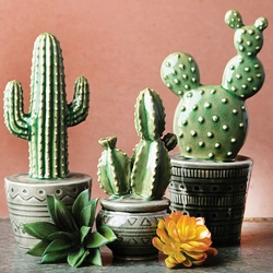 Potted Cacti Figurines