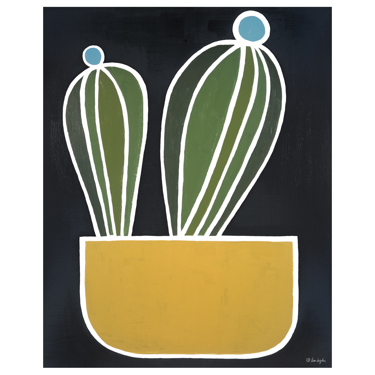 Potted Cactus Canvas Art