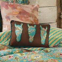 Prairie Flower Jazz Three Horse Accent Pillow