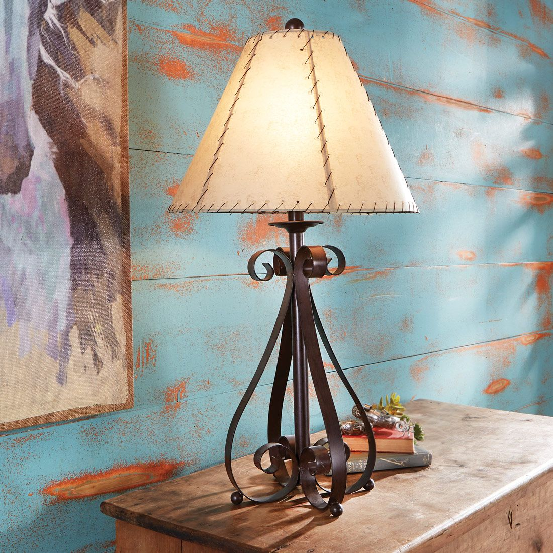 Prairie Scroll Table Lamp