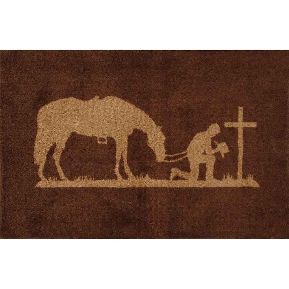 Praying Cowboy Kitchen/Bath Rug