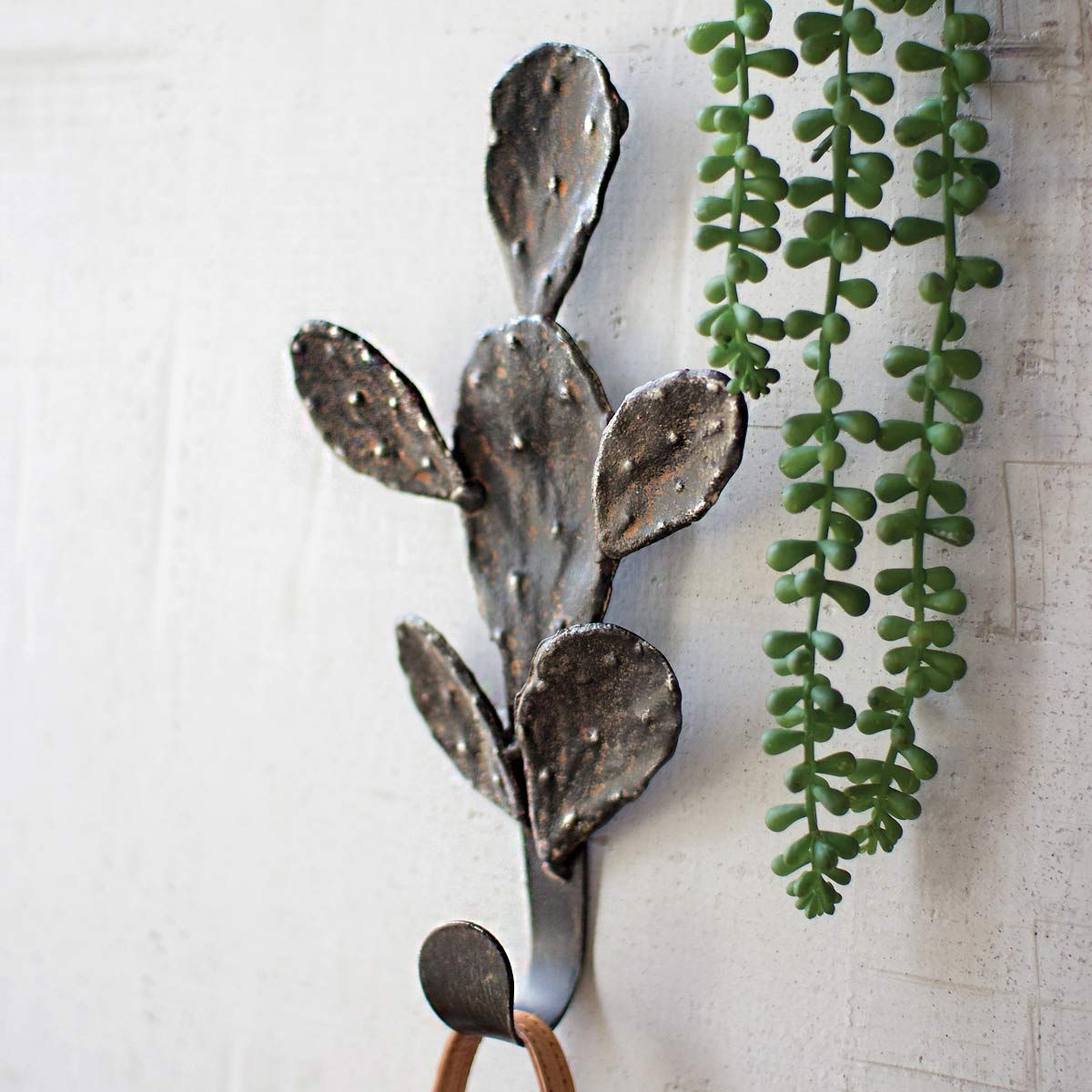 Cast Iron Cactus Coat Rack