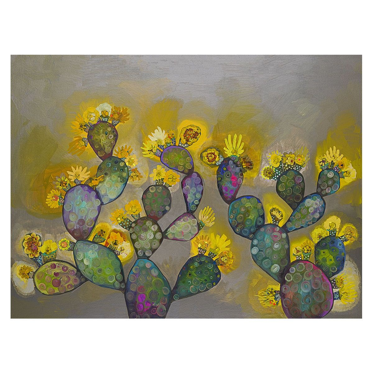 Prickly Pear Morning Canvas Art