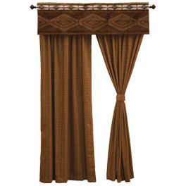 Pueblo Heather Drapes and Tie Backs