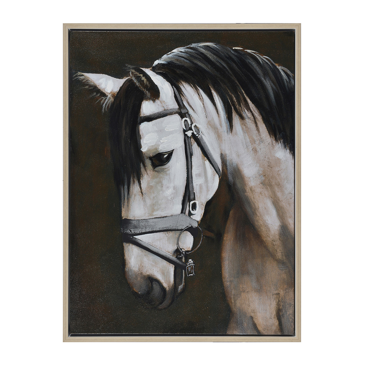 Quiet Horse Framed Canvas