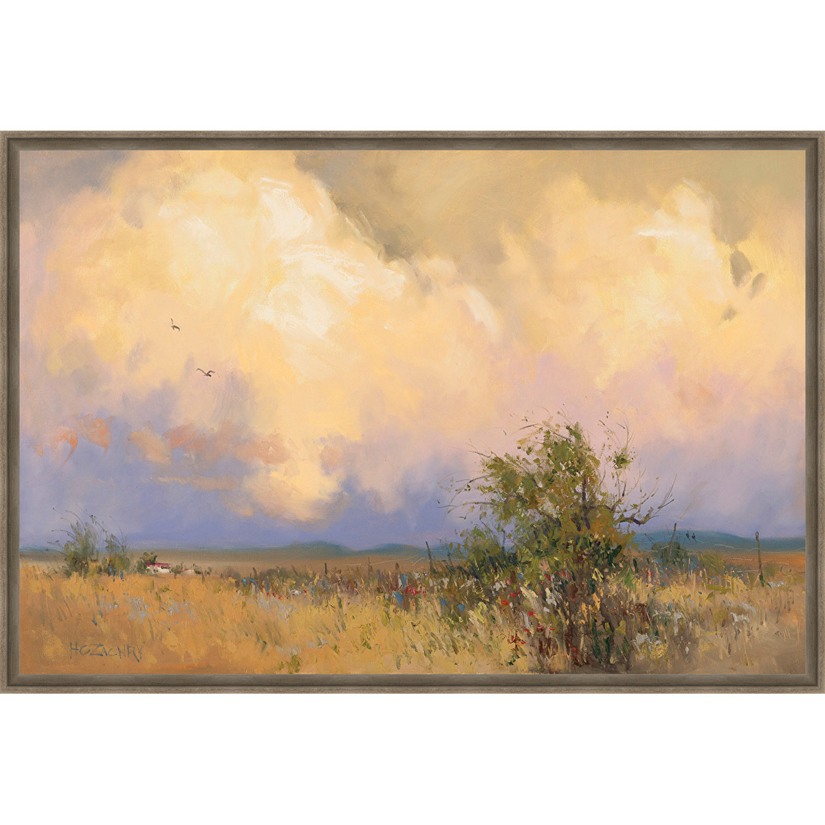 Rain Clouds Framed Canvas