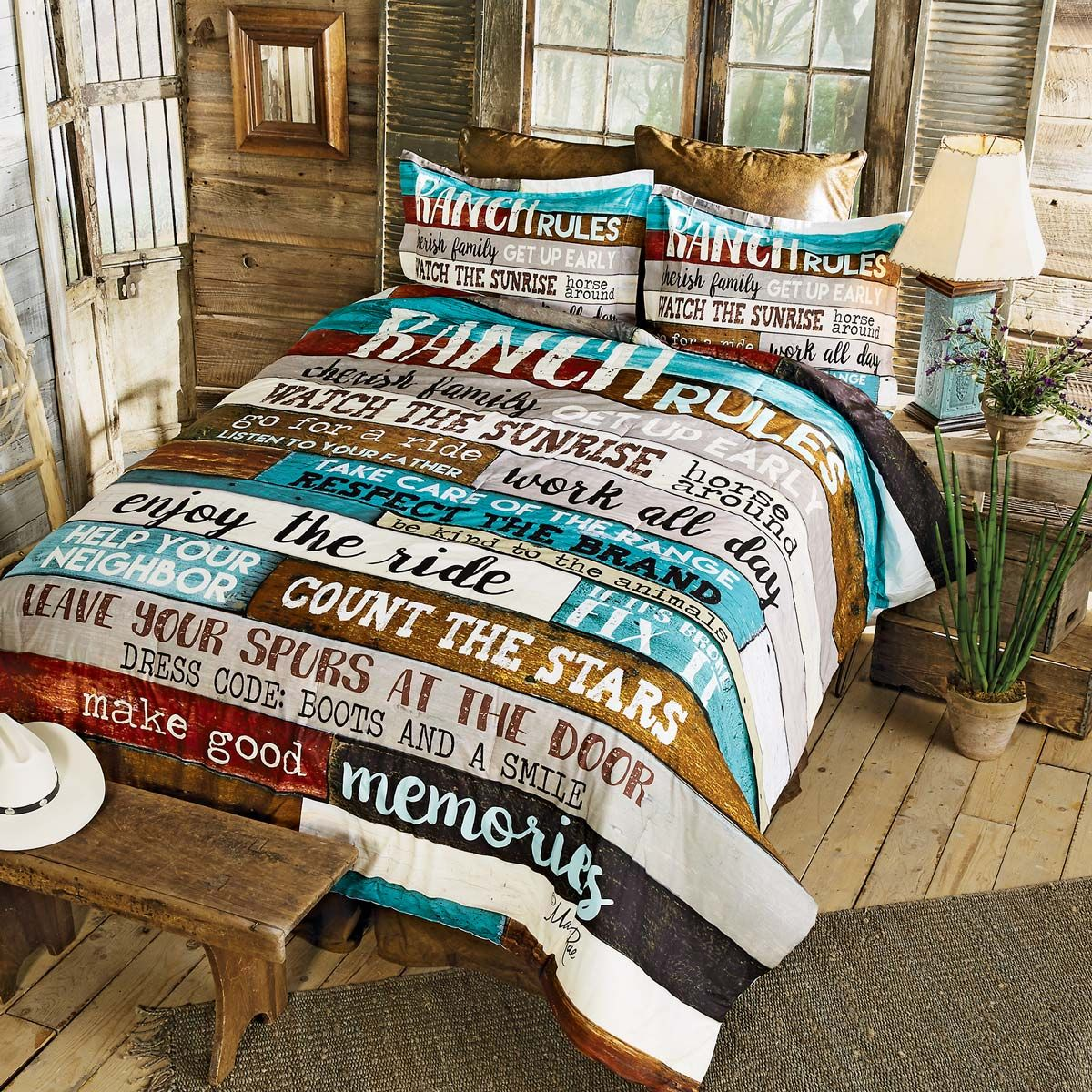 Ranch Commandments Comforter - Twin