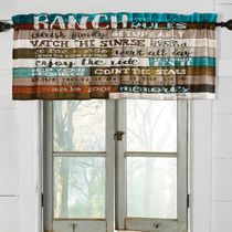 Ranch Commandments Valance - CLEARANCE